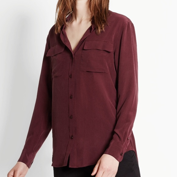 Equipment Womens Faye Silk Shirt